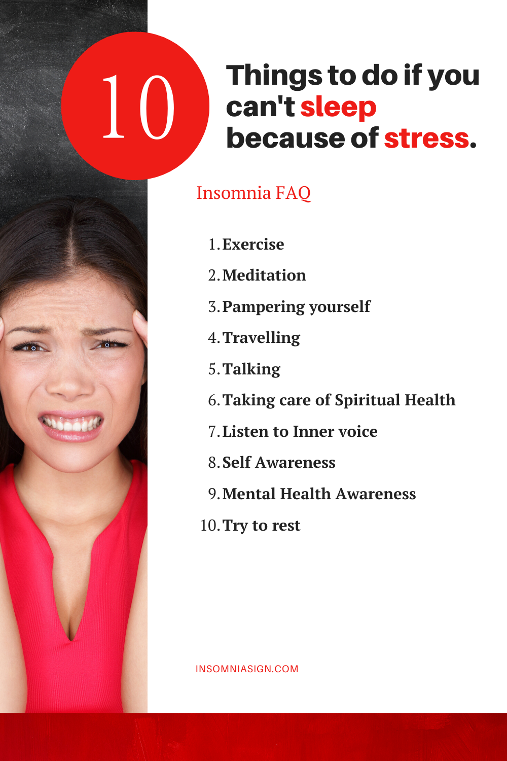 What to do if you can't sleep because of stress?