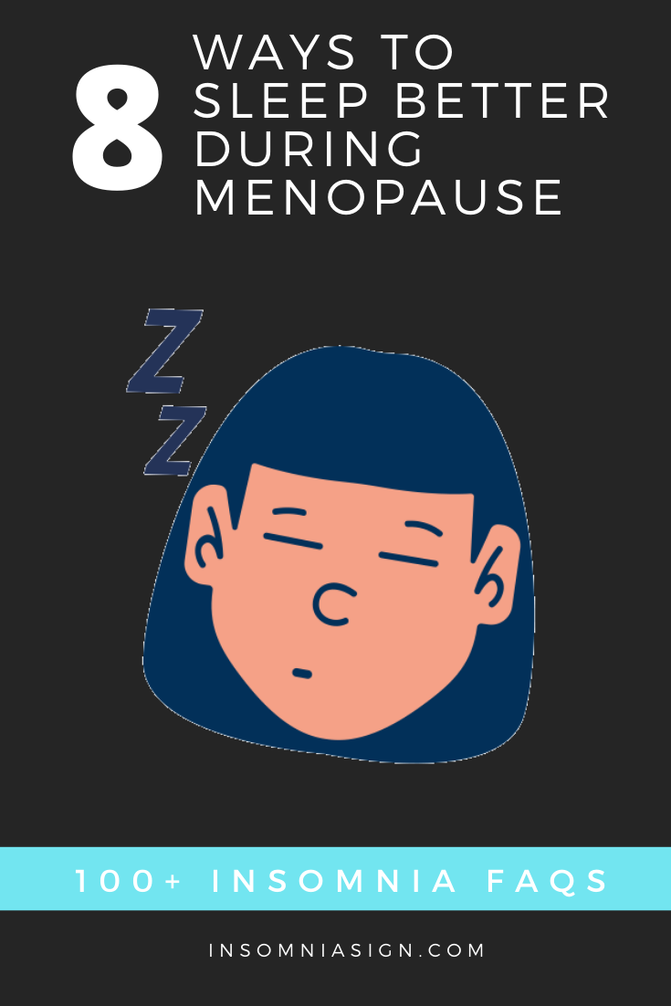 How can I sleep better during menopause?